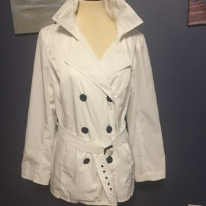 White Rain Coat - stylish - cute size XL